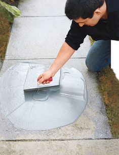 Learn how to resurface worn concrete with this step-by-step guide from This Old . Learn how to resurface worn concrete with this step-by-step guide from This Old House. DIY concrete refinishing is fairly simple and results in a durable surface. Concrete Refinishing, Concrete Resurfacing, This Old House, Home Renovation, Home Remodeling, Kitchen Renovations, Concrete Driveways, Concrete Floors, Diy Concrete