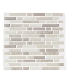 Love this Gray Random Brick Peel & Stick Wall Tile - Set of Five by Tic Tac Tiles on #zulily! #zulilyfinds