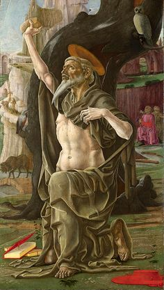 Cosimo Tura (Circa 1430 - 1495) - Saint Jerome, about 1470. Oil and egg tempera on panel, 101 x 57,2 cm. National Gallery, London. ...