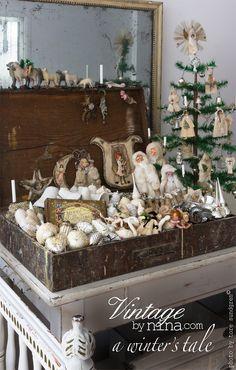 The treasure box from Vintagebynina, A winter's tale