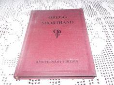 VINTAGE GREGG SHORTHAND WRITING BOOK ANNIVERSARY EDITION 1929 EXCELLENT COND