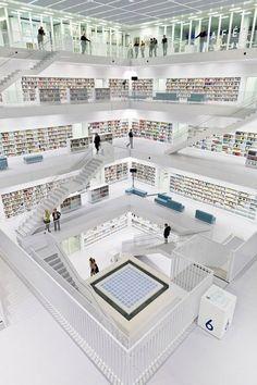 Bibliothèque publique de Stuttgart, Allemagne