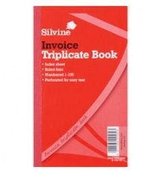 "Buy the new ""Silvine Triplicate Book 8.25x5 inches Invoice 619 Pk6"" online today. Now in stock."
