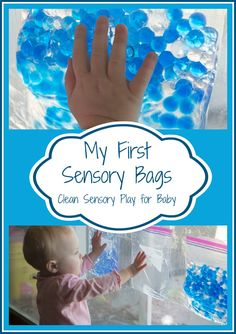 Life with Moore Babies: My First Sensory Bags: Clean Sensory Play for Baby