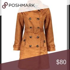 Small Steve Madden Faux Suede Trench Coat. It's a very pretty brown color with a nice cut. Steve Madden Jackets & Coats Trench Coats