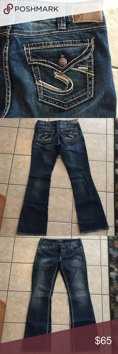 COMFY dark wash Silver jeans! These jeans are soft and have a nice relaxed fit to them. They have never been worn before so no rips or tears! Size W32 / L34. Feel free to counteroffer ! Silver Jeans Jeans Flare & Wide Leg