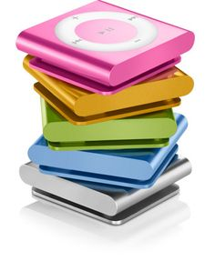 iPod shuffle. The colorful, clip-and-go iPod shuffle. With buttons, VoiceOver, and playlists, it's got all the greatest hits. Only $49.