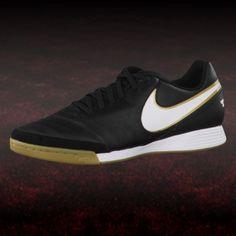 competitive price 92558 231d3 Nike Tiempo Genio II Leather IC Hallenschuh schwarz  hallenfußballschuhe   nike