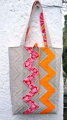 Zakka style tote by Floh.Stiche, via Flickr