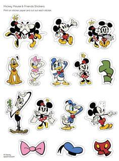 Free Minnie & Friends Stickers - Click Here