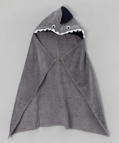 Take a look at this Grey Hooded Shark Towel by Carlsteins on #zulily today!
