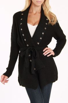 Eve Studded Cardigan, perfect way of being cozy and edgy.