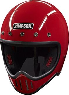 SIMPSON M50 DOT Motorcycle Helmet - RED -