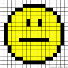 sandylandya@outlook.es  Smiley perler bead pattern