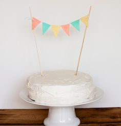 cake bunting - just did this!