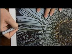 ASMR White Flower Doodle (ASMR drawing no talking, tingle heads,音フェチ, Youtube) - YouTube