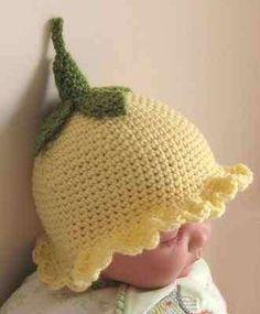 Crochet pattern:  PRIMROSE HAT - Printed leaflet in UK crochet terms