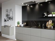 Varmgrått kjøkken - System 10 Bistro. Finn ditt kjøkken i vårt inspirasjonsgalleri for kjøkken finner du mye kjøkkeninspirasjon fra Drømmekjokkenet.