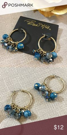 Birch Hill Teal Crystal Beaded Hoop Earrings These Birch Hill Teal Crystal Beaded Hoop Earrings are new, never been worn. These are super vibrant lovely earrings! Beads are a lovely mix of teal blue colors with Gold tone hardware. Perfect for a Mother's Day gift!! Birch Hill Jewelry Earrings