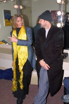 David and Kevin Spacey. What sort of foulard is David even wearing??
