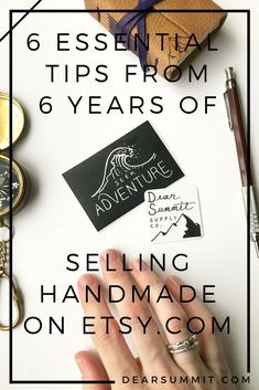 6 Essential Tips from 6 Years of Selling Handmade on Etsy — Dear Summit Supply Co. - Handmade Everything Etsy Business, Craft Business, Creative Business, Business Tips, Business Marketing, Media Marketing, Craft Font, Making Baskets, Book Necklace