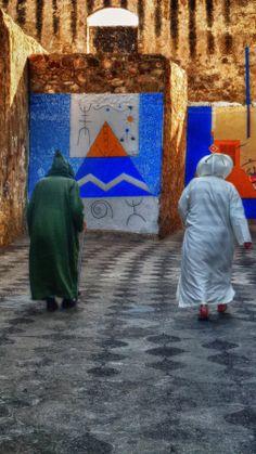 Street scene in Asilah, Morocco