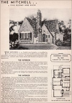1936 Sears Kit House - Mitchell, an English Cottage. love the character. replace one bed with a master and a master bath. move stairs to be more part of the house. have bed and FR downstairs.