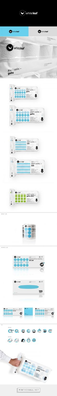 Art Direction, packaging and branding for White leaf — hygiene papers b2b on Behance by Kostas Kaparos Athens, Greece curated by Packaging Diva PD.  Rethinking hygiene papers with some unique designs and  packaging.