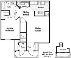 900 square foot house plans | gallery floor plans layout plan ...