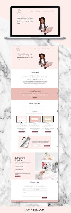 Brand + Website Design Portfolio by Karmen Kendrick | I help creative women design poppin' brands and websites that catch the eyes, hearts, and pocketbooks of their ideal clients.