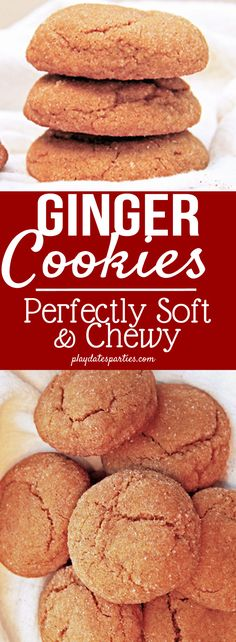 You'll want to make an extra batch of these soft and chewy ginger cookies. These yummy cookies are full of all the best holiday spices, with a special addition of orange liquor to help keep them so soft and bring out the flavors. https://playdatesparties.com/12-days-of-christmas-cookies-chewy-ginger/
