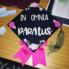 "Gilmore Girl graduation cap. ""In Omnia Paratus"" #graduation #cap #gilmoregirls #college"