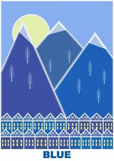 Blue - mountains (RGB series)