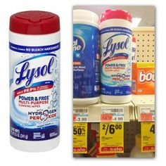 Free Lysol Power & Free Multi-Purpose Cleaning Wipes at CVS!