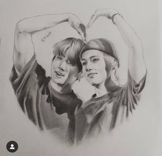 Taekook, Watercolor Portrait Tutorial, Korean Drama Funny, Daughter Love Quotes, Chinese Drawings, Bts Beautiful, Art Drawings Beautiful, Kpop Drawings, Dot Art Painting
