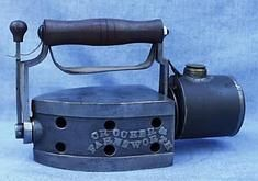 c.1870 Crocker Farnsworth reversible iron gas powered
