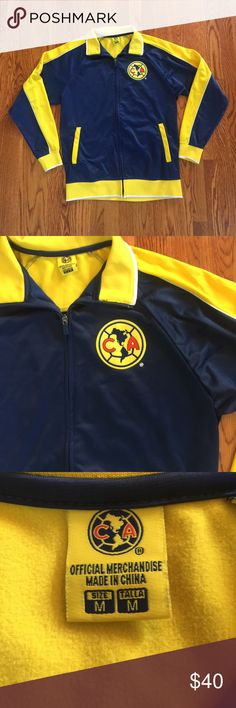 ⚽️ Club América Track Jacket  ⚽️ This is a Club América track jacket. If you are a fan of the team, or just a soccer fan in general, this jacket is for you. These performance jackets are great to wear every day, and are even great to wear on the field. This is a men's size medium, and it's true to size. Jackets & Coats Performance Jackets
