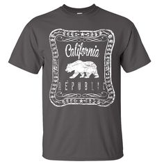 California Republic Old Whiskey Asst Colors T-shirt/tee