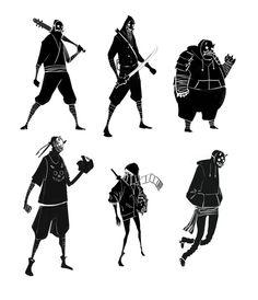 Adam Tan Art - loads of character yet so simple.