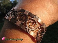 Copper Wire Woven Cuff BraceletCopper BraceletGifts for
