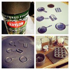 make mini doll baking pans