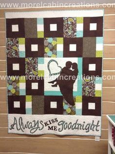 Chocolate Kisses...A Wedding Quilt via Craftsy