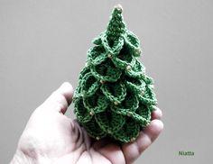 Beaded Fir Tree Kawaii HomeDecor Holiday Christmas from Niatta e-crochet by DaWanda.com