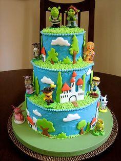 Phenomenal 82 Best Shrek Cakes Images Shrek Cake Shrek Cupcake Cakes Funny Birthday Cards Online Benoljebrpdamsfinfo