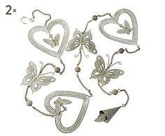 De todo corazón: Set de 2 guirnaldas de corazones y mariposas