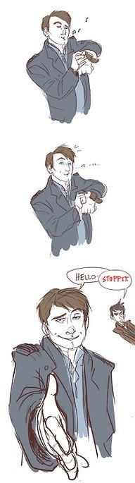 Captain Jack Harkness. I love the doctor in the background