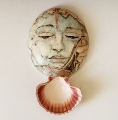 Hand Painted Mask of a Woman's Face Porcelain by tjCervantesArt