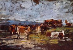 Cows in the Pasture - Eugene Boudin - WikiArt.org