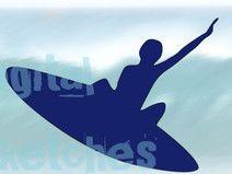 Plotterdatei Surfer Plottervorlage Silhouette svg