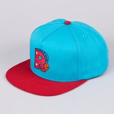 ROCKWELL VARSITY R 5 PANEL SNAPBACK CAP BLUE / RED